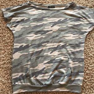 camp loose/ boat neck short tunic shirt